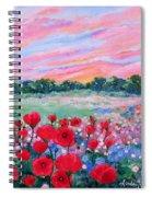 Jeweled Sunset Spiral Notebook