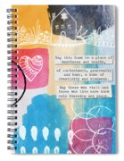 Jewish Home Blessing -greeting Cards And Prints Spiral Notebook