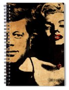 Jfk And Marilyn Spiral Notebook