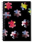 Jigsaw Puzzle Flag Pieces Spiral Notebook
