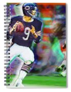 Jim Mcmahon With Walter Payton Chicago Bears Spiral Notebook