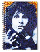 Jim Morrison Chuck Close Style Spiral Notebook