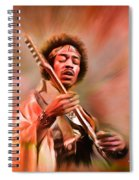 Jimi Hendrix Electrifying Guitar Play Spiral Notebook