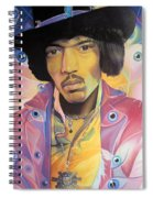 Jimi Hendrix Eyes Spiral Notebook