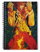 Jimi Hendrix Fire Spiral Notebook
