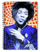 Jimi Hendrix-orange And Blue Spiral Notebook
