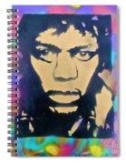 Jimi Hendrix Squared Spiral Notebook