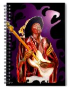 Jimi Hendrix Variations In Purple And Black Spiral Notebook