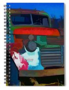 Jimmy In Taos - Abstract Spiral Notebook