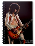 Jimmy Page In Led Zeppelin Painting Spiral Notebook