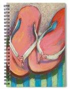 Pink Flip Flops Spiral Notebook