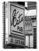 Jo Cats Pub Spiral Notebook