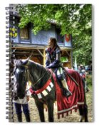 Joan Of Arc - A Woman Knight  In Armor Spiral Notebook