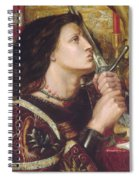Joan Of Arc Kisses The Sword Of Liberation Spiral Notebook
