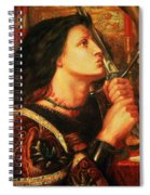 Joan Of Arc Kissing The Sword Spiral Notebook