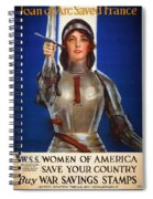 Joan Of Arc War Stamps Poster 1918 Spiral Notebook