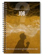 Job Books Of The Bible Series Old Testament Minimal Poster Art Number 18 Spiral Notebook