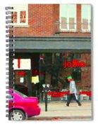 Joblo Restaurant Steakhouse Rue Wellington Verdun Montreal Cafe City Scenes Carole Spandau Spiral Notebook