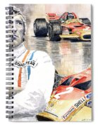 Jochen Rindt Golden Leaf Team Lotus Lotus 49b Lotus 49c Spiral Notebook