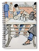 Jockey And Trainers In The Bar Spiral Notebook