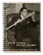 Joe Dimaggio And His Bat Spiral Notebook