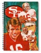Joe Montana Spiral Notebook