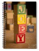 Joey - Alphabet Blocks Spiral Notebook