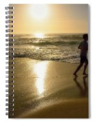 Jogging At Sunrise By Kaye Menner Spiral Notebook