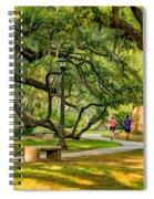 Jogging In City Park Spiral Notebook