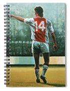 Johan Cruijff Nr 14 Painting Spiral Notebook