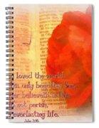 John 3 16 Floral Spiral Notebook