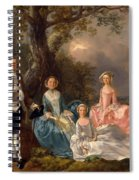 John And Ann Gravenor With Their Daughters Spiral Notebook