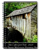 John Cable Grist Mill - Poster Spiral Notebook
