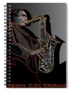 John Coltrane Jazz Saxophone Legend Spiral Notebook