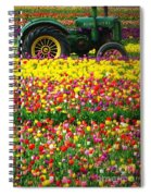 John Deere Tulips Spiral Notebook