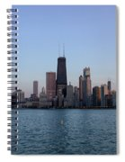 John Hancock Building And Chicago Il Skyline Spiral Notebook