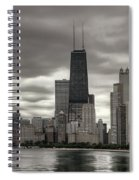 John Handcock Building From The Lake Shore Spiral Notebook