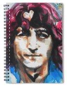 John Lennon..up Close Spiral Notebook