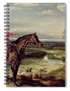 John Levett Hunting In The Park At Wychnor Spiral Notebook