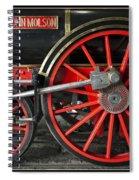 John Molson Steam Train Locomotive Spiral Notebook