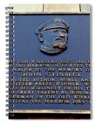 John Steinbeck Spiral Notebook