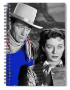 John Wayne Gail Russell Angel And The Badman  Publicity Photo 1947-2012 Spiral Notebook
