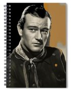 John Wayne Publicity Photo In Costume Stagecoach 1939-2013 Spiral Notebook