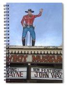 John Wayne Shuttered Cowboy Museum Close-up Tombstone Arizona 2004 Spiral Notebook