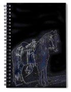 John Wayne The Horse Soldiers 1959 Homage #1 C.1880 Horse And Saddle-2009 Spiral Notebook