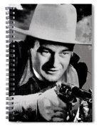 John Wayne Two-fisted Law  1932 Publicity Photo Spiral Notebook