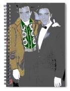 Johnny Cash  Elvis Presley Backstage Memphis Tn  Photographer Unknown  Spiral Notebook
