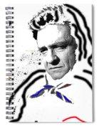 Johnny Cash Man In White Literary Homage Old Tucson Arizona 1971-2008 Spiral Notebook