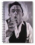 Johnny Cash Portrait Spiral Notebook