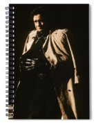 Johnny Cash Trench Coat  Sepia Variation Old Tucson Arizona 1971 Spiral Notebook